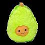 Мягкая игрушка Авокадо 20 см