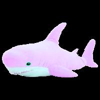 Мягкая игрушка Акула Сиреневая 100 см