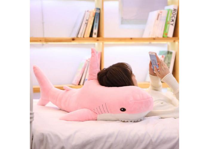 Мягкая игрушка Акула Розовая 100 см