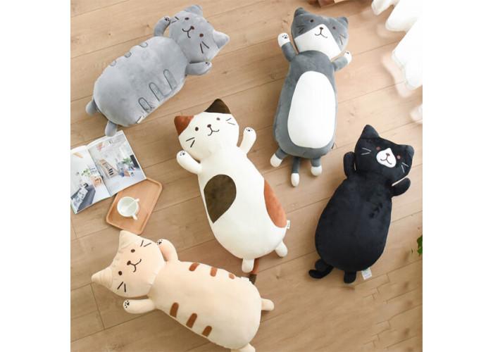 Мягкая игрушка Кот Серый 45 см